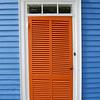 Orange door, Stonington, Connecticut