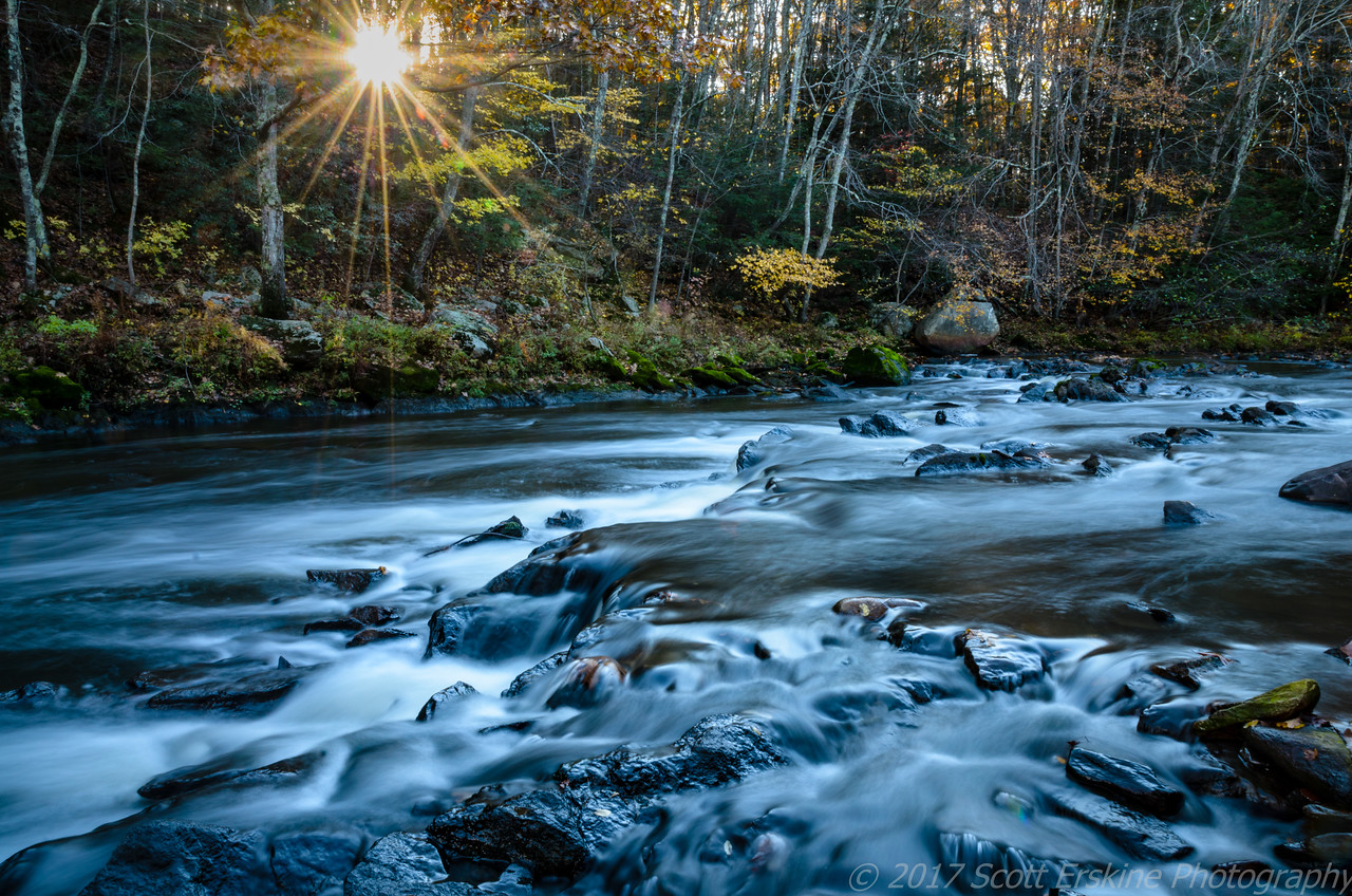 Sunset Sunburst, Blackstone Gorge, Blackstone, Ma