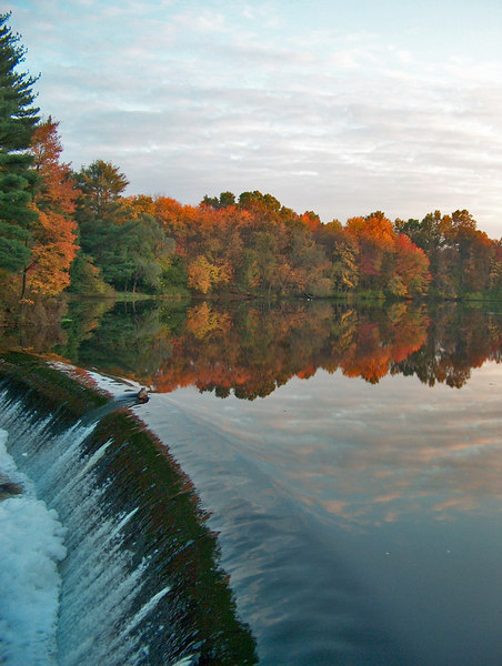 South Natick Dam on Charles River <br /> Natick, MA<br /> Oct 2004<br /> © WEOttinger, The Wildflower Hunter - All rights reserved<br /> For educational use only - this image, or derivative works, can not be used, published, distributed or sold without written permission of the owner.
