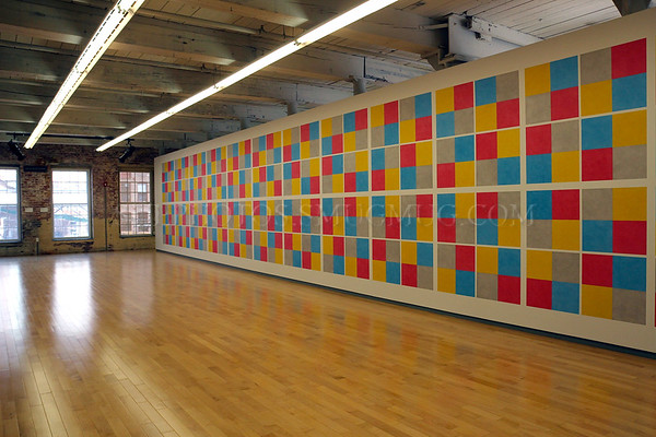 Sol LeWitt: A Wall Drawing Retrospective, at the Massachusetts Museum of Contemporary Art