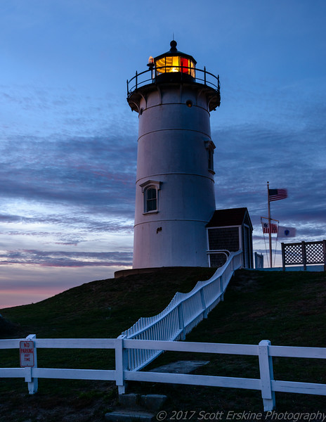 Sunset Afterglow, Nobska Lighthouse, Cape Cod, Ma.