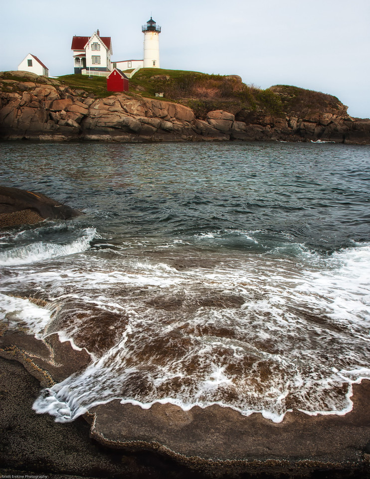 Surge, Nubble Light, York, Maine