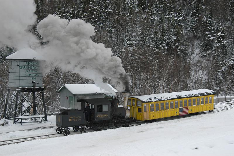 Cog Railway Underway NH