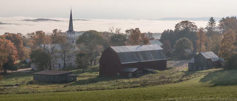 Autumn Morning, Peacham, Vermont,