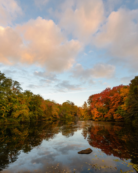 Sunset Light at Caprons Pond, Uxbridge, MA