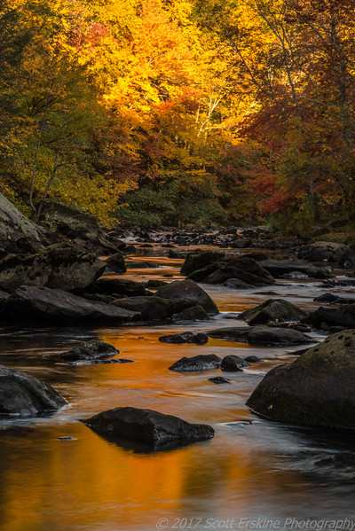 Blackstone Gorge Aflame, Sunrise, Blackstone, MA