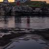 Moonrise Reflection at Dawn, Nubble Light, York Maine
