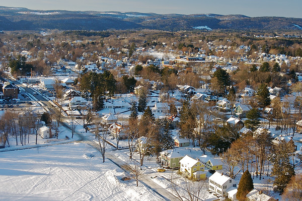 Greenfield.  View from the Poet's Seat Tower, January 2010.