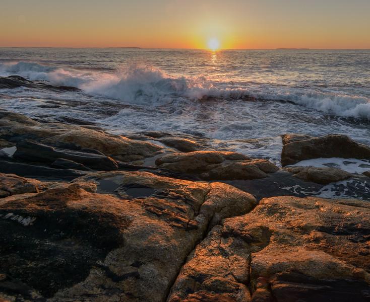 Sunrise Surf, Pemaquid Point, Maine