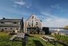 Picnic tables, Monhegan Island, Maine