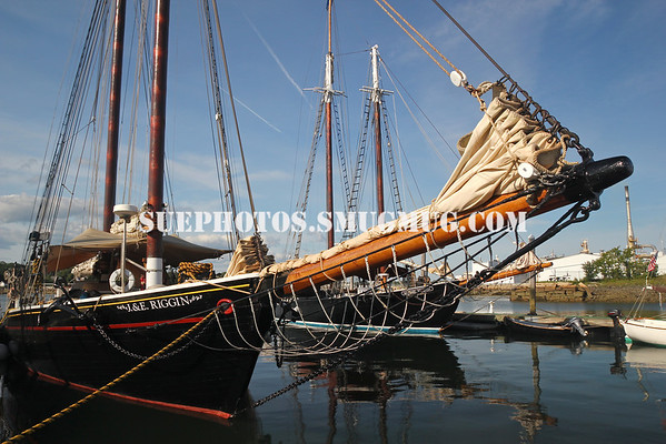 A windjammer at the Rockland Windjammer Wharf, Rockland, Maine