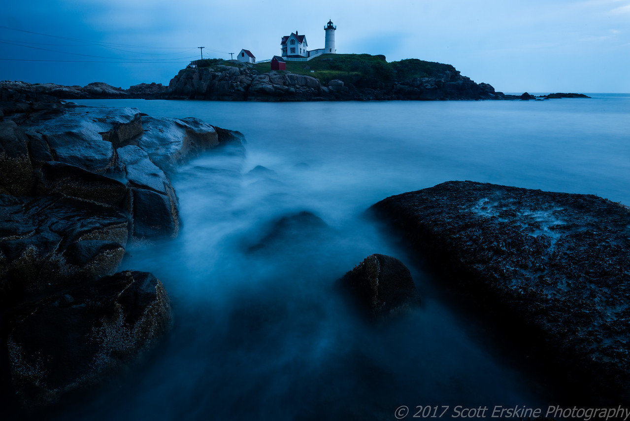 Storm Day Blues, Nubble Light, York Maine