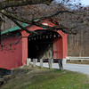 The West Arlington Covered Bridge spans the Battenkill River in southwestern Vermont.