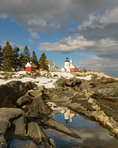 Late Afternoon, Clearing Storm, Pemaquid Light