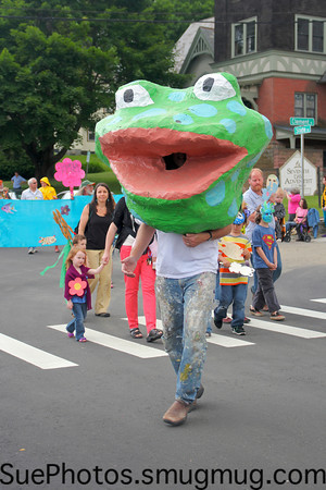 Frog and Flower Parade 2012, Shelburne Falls, Massachusetts