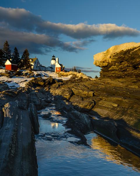 Winter Sunset, Pemaquid Light, Maine