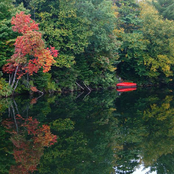 A Canoe and a Reflection NY