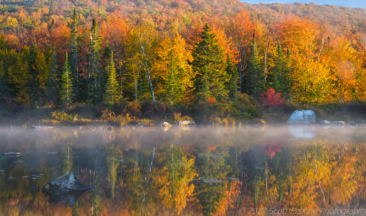 Clearing Mist, Autumn, Vermont