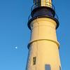 Moonrise, Sunset, Portland Head Lighthouse, Cape Elizabeth Me,