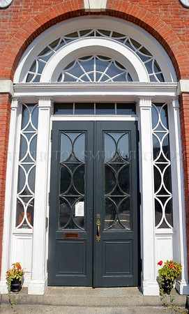 Entrance to the Portsmouth Athenaeum, a private nonprofit museum and library incorporated in 1817. Portsmouth, New Hampshire, United States
