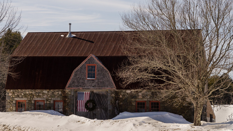 Stone Barn, Winter's End, Mt. Desert Island, Maine