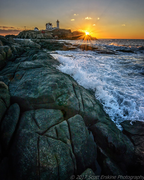 Winter Sunrise, Nubble Light, York, Maine