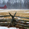 Ground fog adds a touch of mystery to a country field
