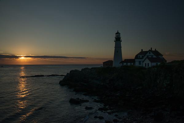 Sunrise, Portland Head Lighthouse, Cape Elizabeth, Maine