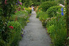 North America, United States, Massachusetts, Shelburne Falls.  The path across the Bridge of Flowers