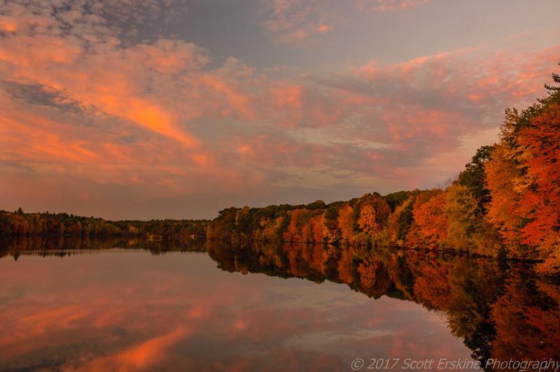 Sunset, Hopkinton State Park, Ma