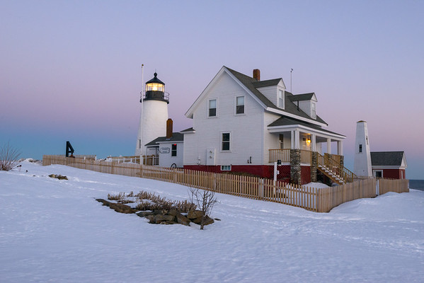 After Sunset, Pemiquid in Winter