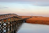 Sandwich Boardwalk in the late afternoon in November. Sandwich, Cape Cod, Massachusetts, United States