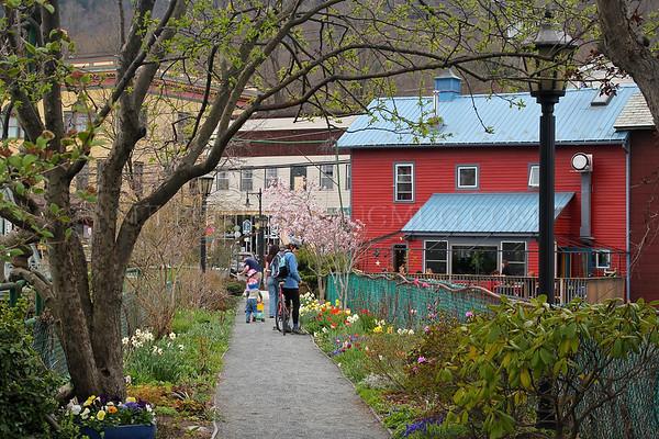 April on the Bridge of Flowers, Shelburne Falls/Buckland, Massachusetts