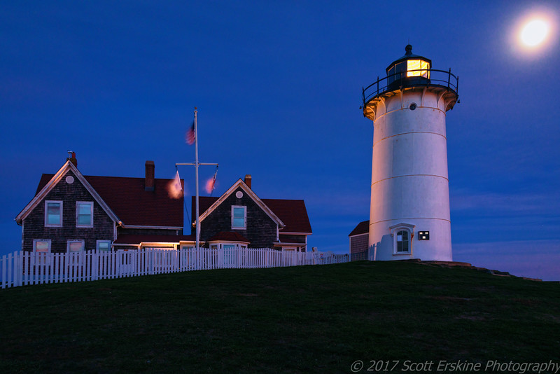 Moonrise, Nobska Light, Cape Cod, MA
