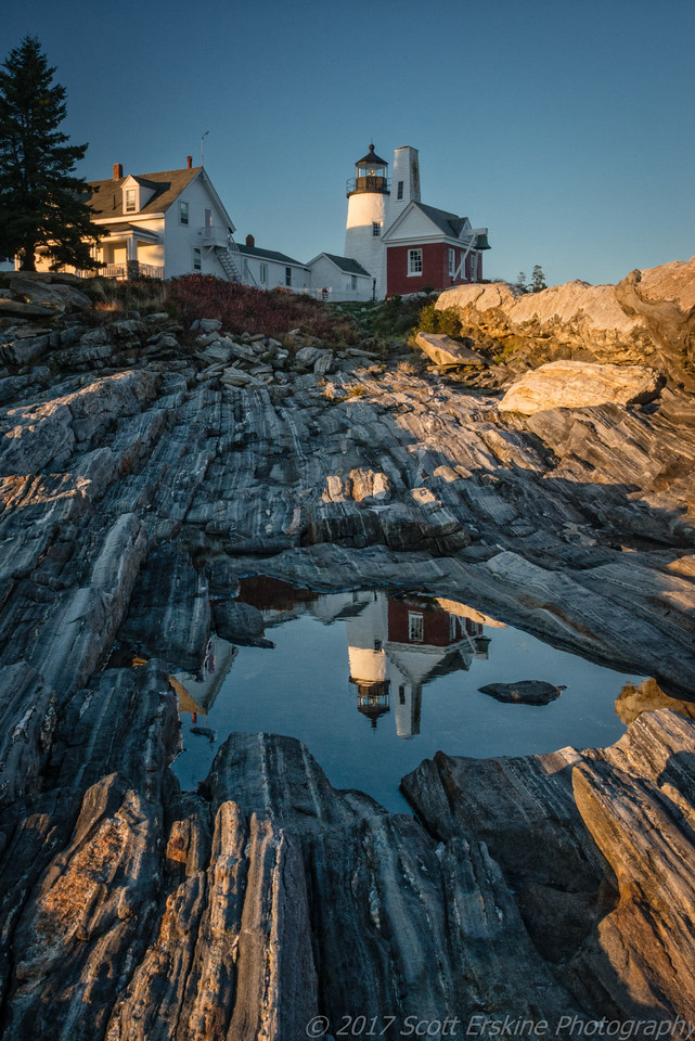 Pemaquid Light Reflections, Late Afternoon