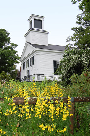 Classic New England church in rural Vermont