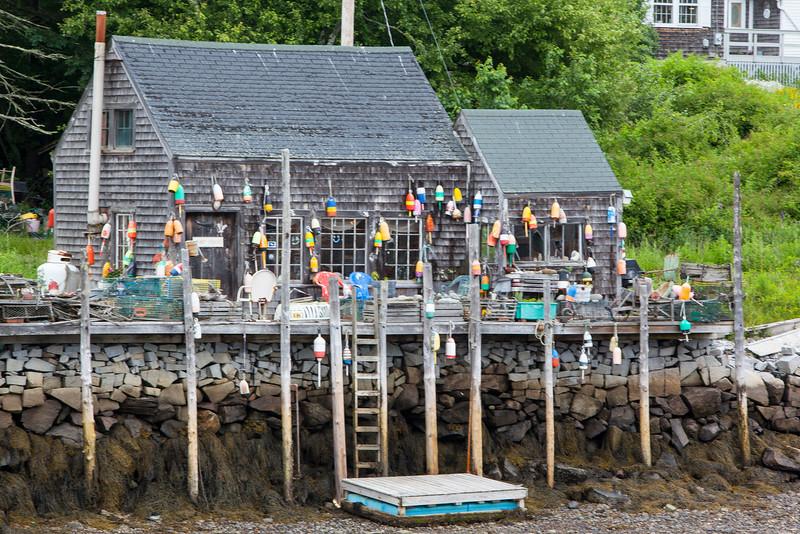 Lobster Shack at Low Tide, Port Clyde Maine