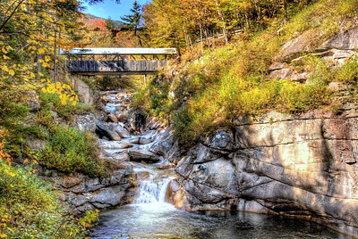 10/14/11 - The Sentinel Pine bridge and The Pool in Franconia Notch, Lincoln NH