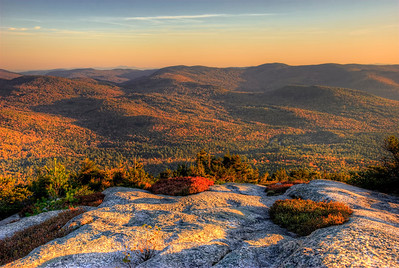 10/15/11 - From the peak at Welch mountain in NH a little before sunset.