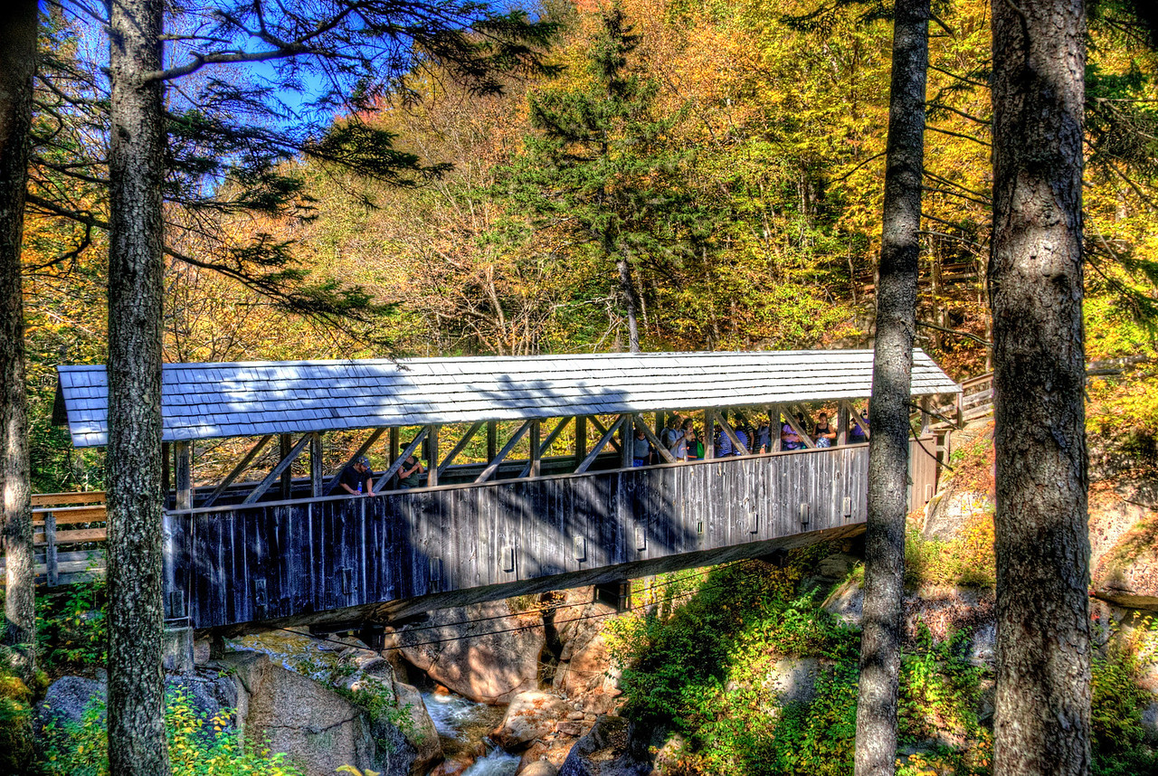 10/18/11 - This covered bridge was built from the wood of a single pine tree in 1939.