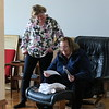 Melissa and Lyn Looking at Photos