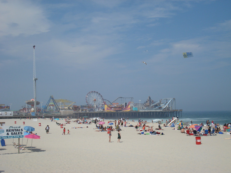 Sunday afternoon at Seaside Heights on the Jersey shore.