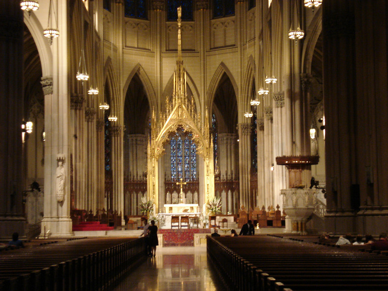 Interior of St. Patrick's.