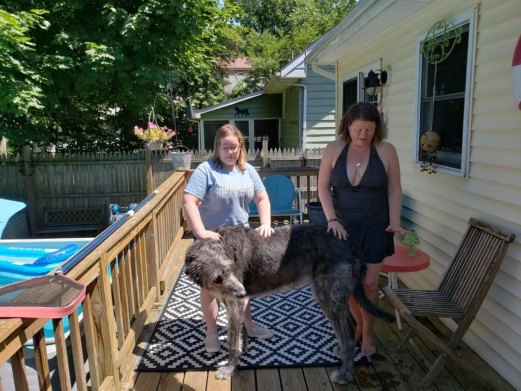 Jill, Burke's Big Dog, & Mary Burke