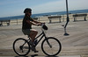 Becky on the move, Asbury Park boardwalk