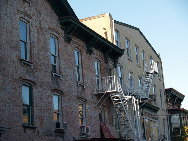 Old Brick Apt. Buildings in Lambertville