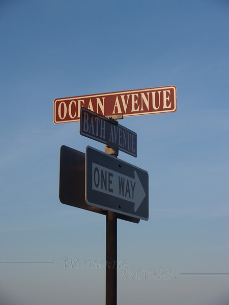 Ocean Grove Street Signs, Early Evening