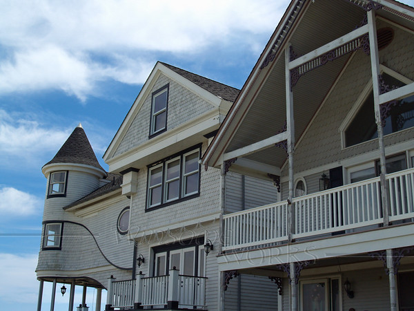 Side View of a favorite Ocean Grove Home (at left)