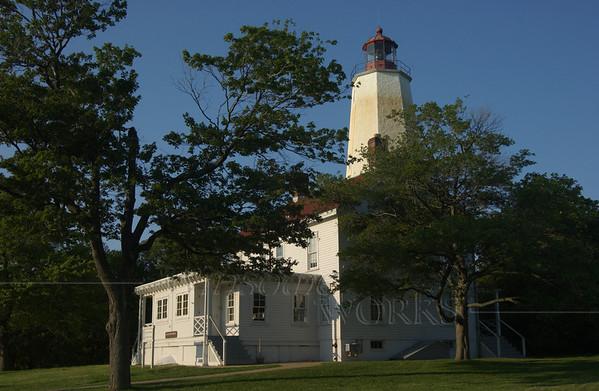Sandy Hook Lighthouse at dusk