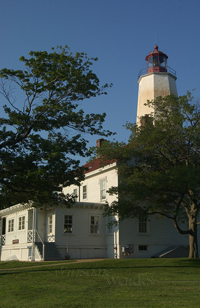Sandy Hook Lighthouse at dusk